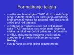 formatiranje teksta20
