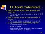 b 10 revisar combinaciones