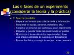 las 6 fases de un experimento considerar la teor a y la pr ctica1