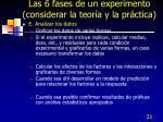 las 6 fases de un experimento considerar la teor a y la pr ctica2