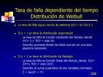 tasa de falla dependiente del tiempo distribuci n de weibull1