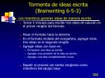 tormenta de ideas escrita brainwriting 6 5 3