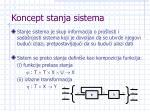 koncept stanja sistema