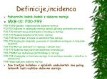 definicije incidenca