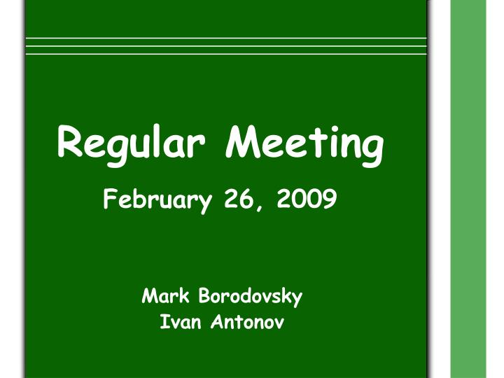 regular meeting february 26 2009 n.