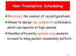 non preemptive scheduling