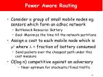 power aware routing