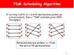 tdm scheduling algorithm