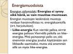 energiamuodoista