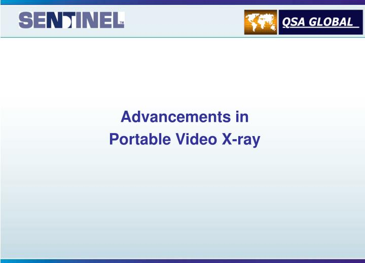 advancements in portable video x ray n.