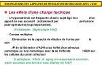 modifications des capacites de regulation metabolique avec l age1