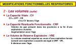 modifications fonctionnelles respiratoires1