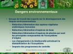 dangers environnementaux