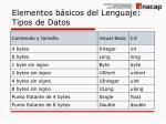 elementos b sicos del lenguaje tipos de datos1