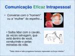 comunica o eficaz intrapessoal