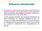 influence motionelle