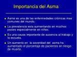 importancia del asma