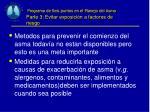 programa de seis puntos en el manejo del asma parte 3 evitar exposici n a factores de riesgo