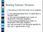 routing scheme notation