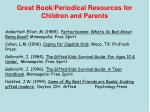 great book periodical resources for children and parents