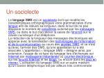 un sociolecte