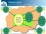 globalization central service centers local delivery centers