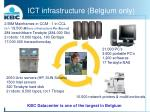 ict infrastructure belgium only
