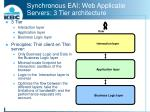 synchronous eai web applicatie servers 3 tier architecture