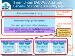 synchronous eai web application servers positioning assembly logic