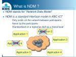 what is ndm