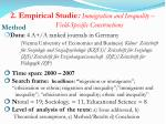 2 empirical studie immigration and inequality field specific constructions