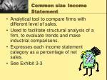 common size income statement