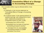 cumulative effect of a change in accounting principle1