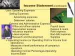 income statement continued1