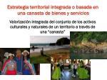 estrategia territorial integrada o basada en una canasta de bienes y servicios