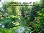 estrategias de valorizaci n de las diversidades bioculturales