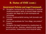b status of sme cont1