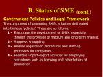 b status of sme1