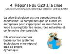 4 r ponse du g20 la crise construire une remont e conomique inclusive verte et durable
