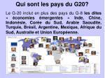 qui sont les pays du g20