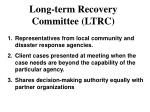 long term recovery committee ltrc