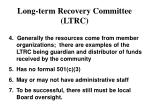 long term recovery committee ltrc1