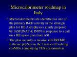 microcalorimeter roadmap in italy