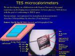 tes microcalorimeters
