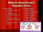 behavior expectations discipline policy