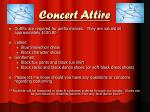 concert attire