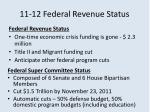 11 12 federal revenue status