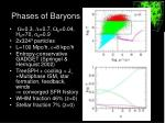 phases of baryons