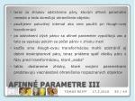 afinn parametre iii