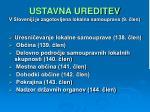 ustavna ureditev v sloveniji je zagotovljena lokalna samouprava 9 len